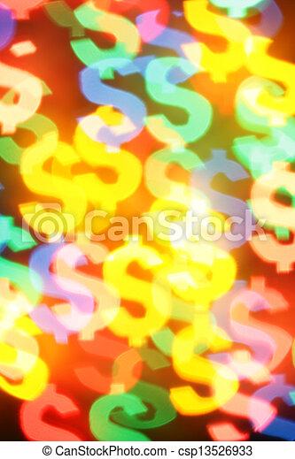 Colorful dollar symbols - csp13526933