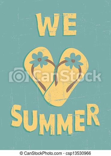 Vintage Summer Poster - csp13530966