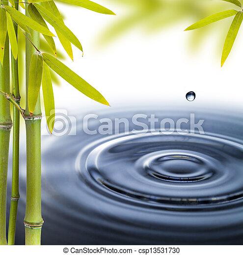 Spa still life with water circles - csp13531730
