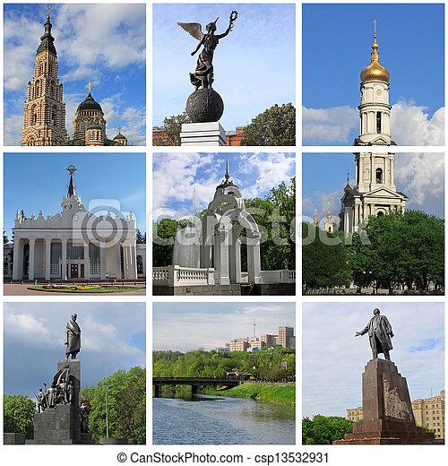 landmarks of Kharkiv - csp13532931