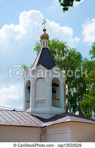 Christian temple, landmark in Moscow, Russia - csp13533529