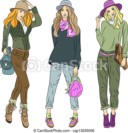 Top Model Clipart Fashion Girls Top Models