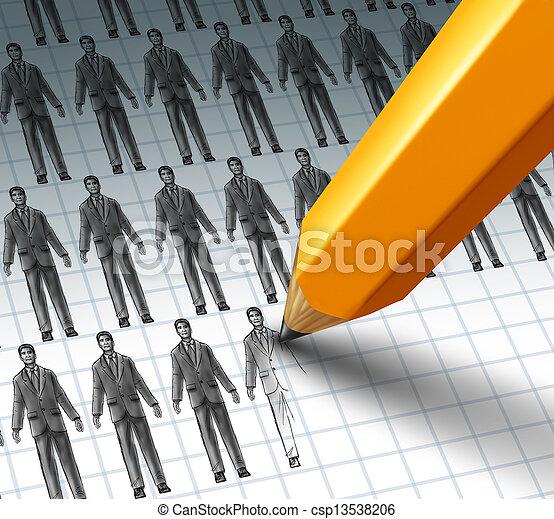 Hiring Employees - csp13538206