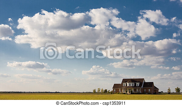Lonely House On The Prairie - csp1353911