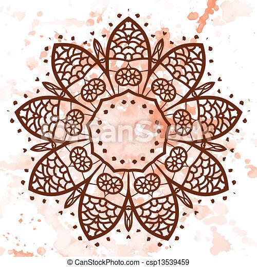 vecteur clipart de oriental mandala motif quel est karma oriental csp13539459. Black Bedroom Furniture Sets. Home Design Ideas
