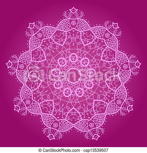 clipart vecteur de oriental mandala motif rond lase mod le sur les csp13539507. Black Bedroom Furniture Sets. Home Design Ideas
