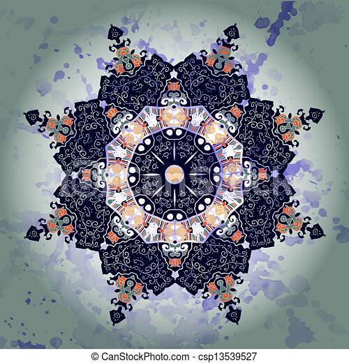 illustration vecteur de oriental mandala motif rond lase mod le sur les csp13539527. Black Bedroom Furniture Sets. Home Design Ideas
