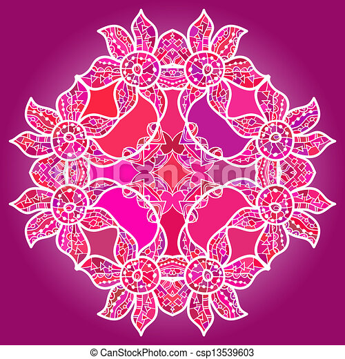 clipart vecteur de oriental mandala motif quel est karma oriental csp13539603. Black Bedroom Furniture Sets. Home Design Ideas