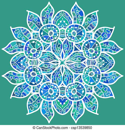 vecteur clipart de traditionnel motif oriental ornement fishes csp13539850. Black Bedroom Furniture Sets. Home Design Ideas