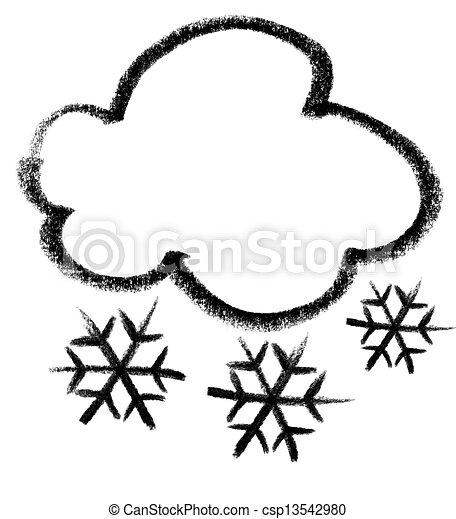 Snowy Weather Symbol