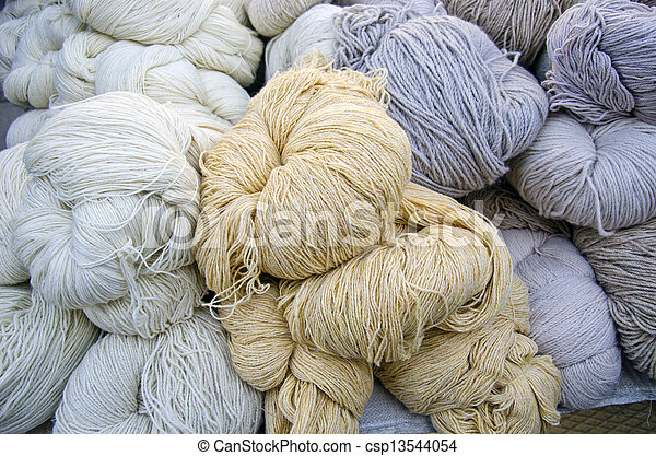 wool thread in agriculture market - csp13544054