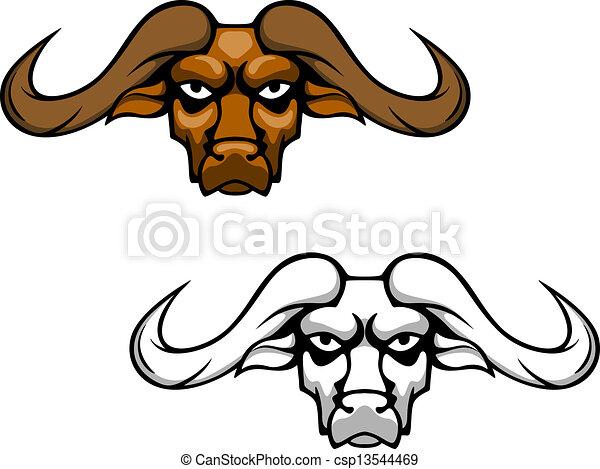 vectors of buffalo head csp11099430 - search clip art