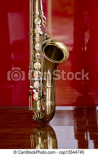Saxophone brass music instrument