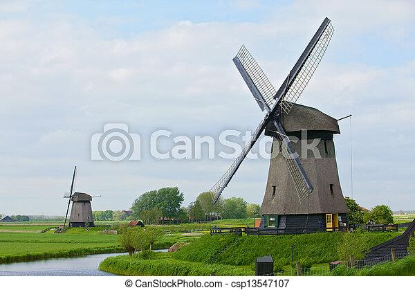 Holland Windmill - csp13547107