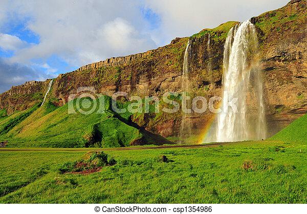 Seljalandsfoss Waterfall, Iceland - csp1354986