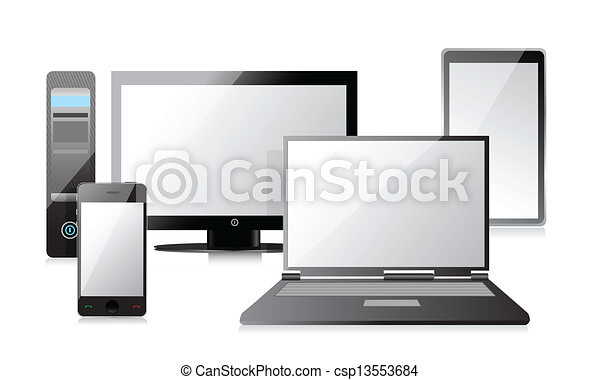 Computer, Laptop Tablet and smartphone - csp13553684