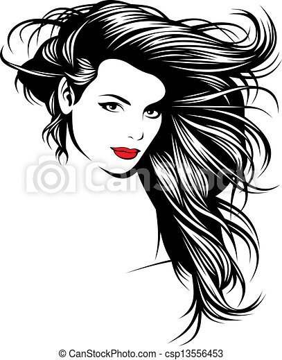 girl with nice hairs from my fantasy  - csp13556453