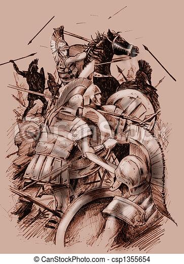 Ancient battle - csp1355654