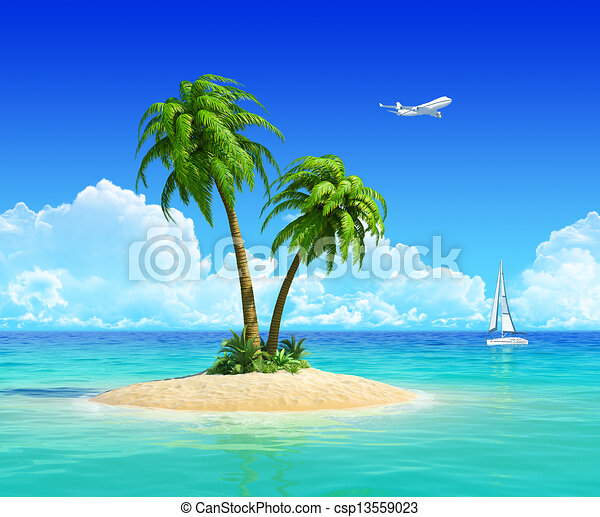 Concept for travel, vacation, trip, holidays, resort, and rest. - csp13559023