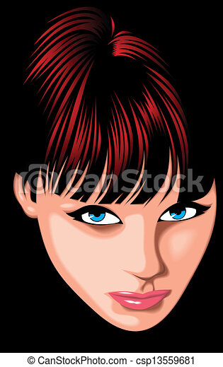 nice girl (woman ) face from my fantasy - csp13559681