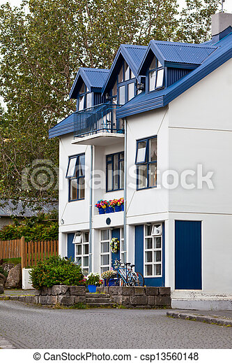 Residential House in Reykjavik - csp13560148