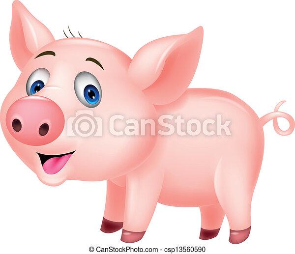 Vecteurs eps de mignon dessin anim cochon vecteur - Dessin cochon mignon ...
