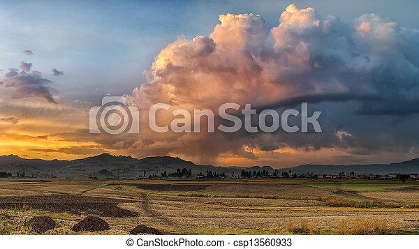 Ethiopian rural landscape - csp13560933