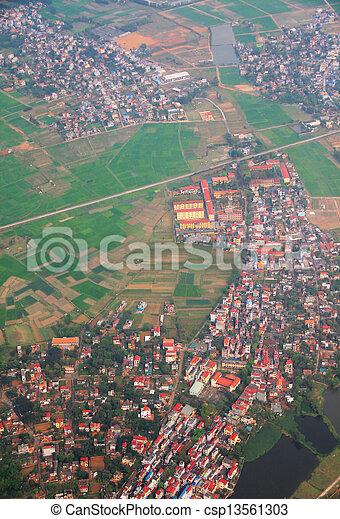 Hanoi city Vietnam,Bird eye view - csp13561303