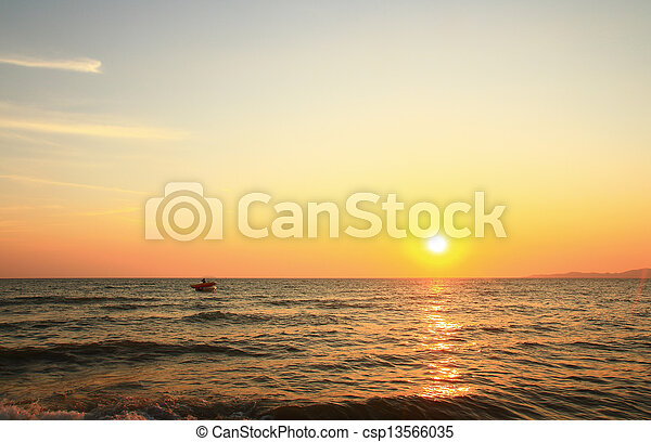 sea sunset - csp13566035