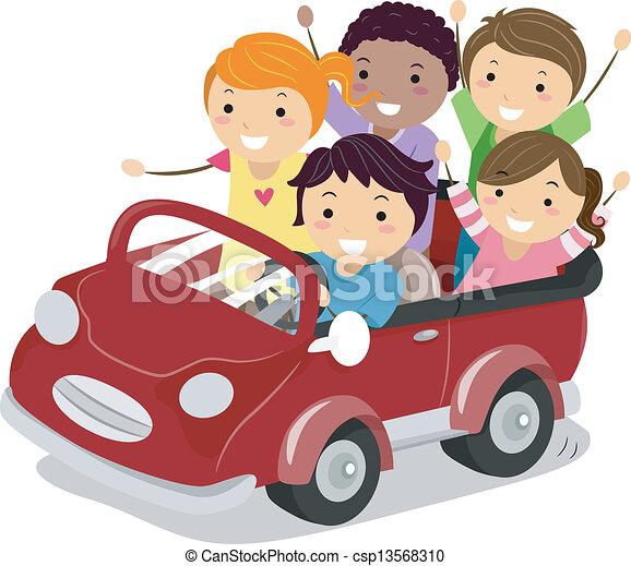 Vektor Clip Art Von Spielzeug Kinder Auto Abbildung