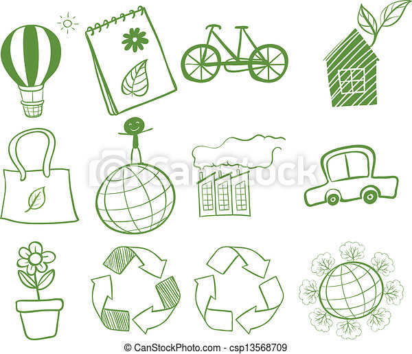 Vector Clipart of Things found in our environment - Illustration ...