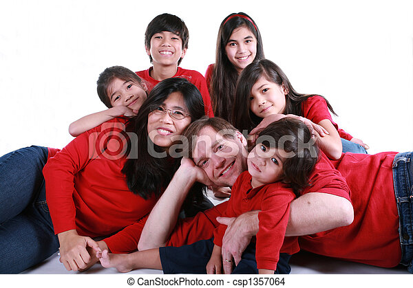 Large family of seven - csp1357064