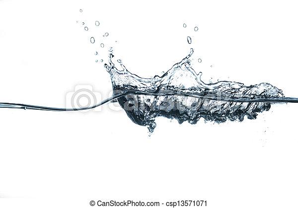 Splashing Water Waves - csp13571071