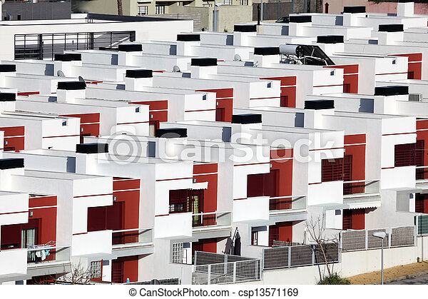 Residential houses in a urbanization in Spain - csp13571169