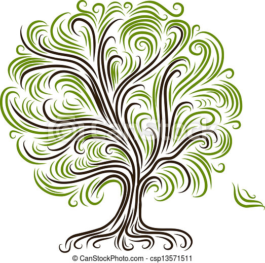 Abstract tree with roots for your design - csp13571511