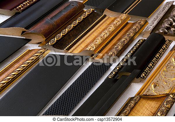 Photographies de bois cadre moulures les bois cadre est fait de csp13572904 - Moulure bois pour cadre ...