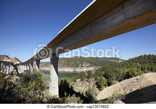 Railway and highway bridges - csp13574822