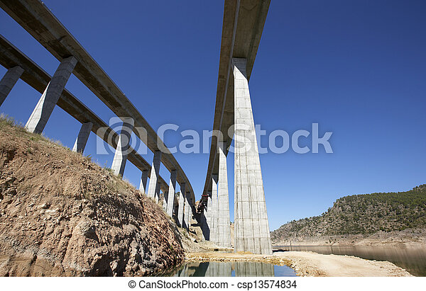 Railway and highway bridges - csp13574834