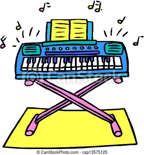 Vector Illustraie van Synthesizer, Vector, illustratie ...