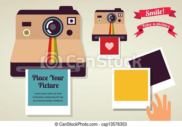 Polaroid camera Vector Clip Art EPS Images. 690 Polaroid camera ...