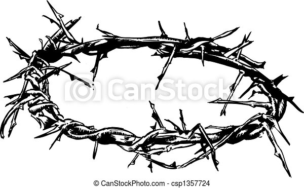 Crown Of Thorns Vector Illustration - csp1357724