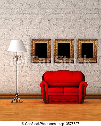 Photo de rouges divan norme lampe minimaliste for Divan 2 lampe