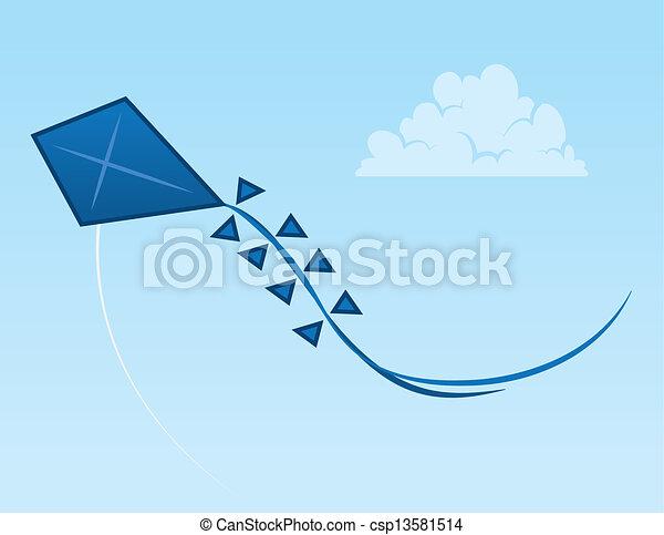 Kite Sky Vector Clip Art