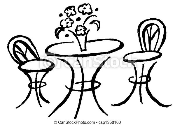 Stock Illustration Of Bistro Table Csp1358160 Search