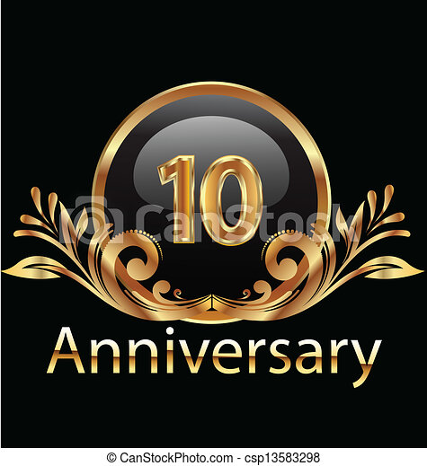 10 years anniversary birthday  - csp13583298
