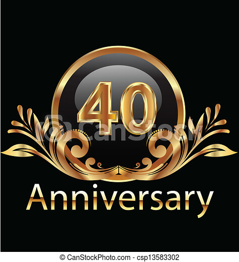 40 years anniversary birthday  - csp13583302