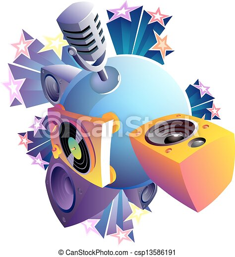 Music World isolated - csp13586191