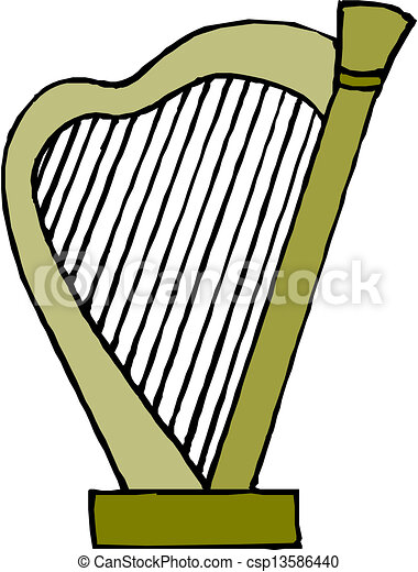 EPS Vector of Harp vector csp13586440 - Search Clip Art ...