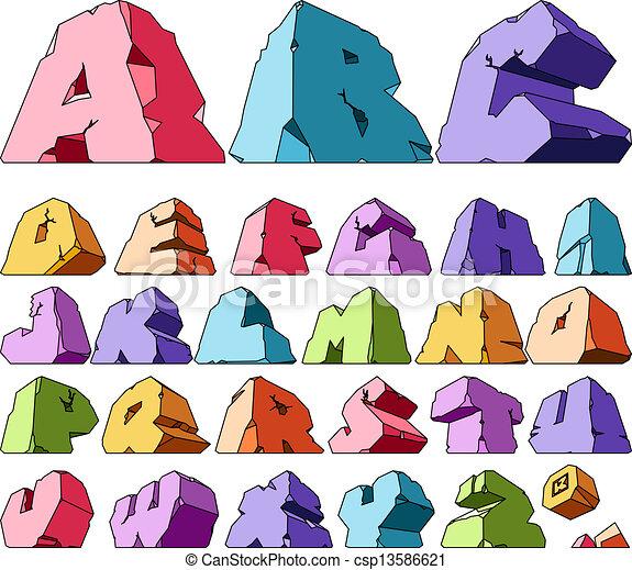 Multicolored alphabet - csp13586621