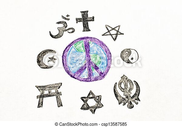 Peaceful World Drawings World Peace Simple Colored